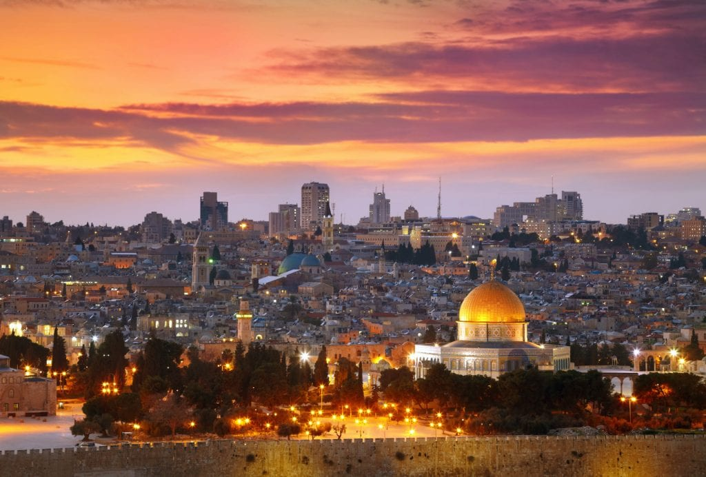View of Jerusalem old city in Israel