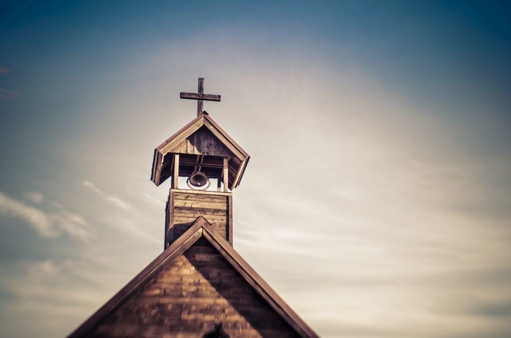 Church bell in a Church tower.