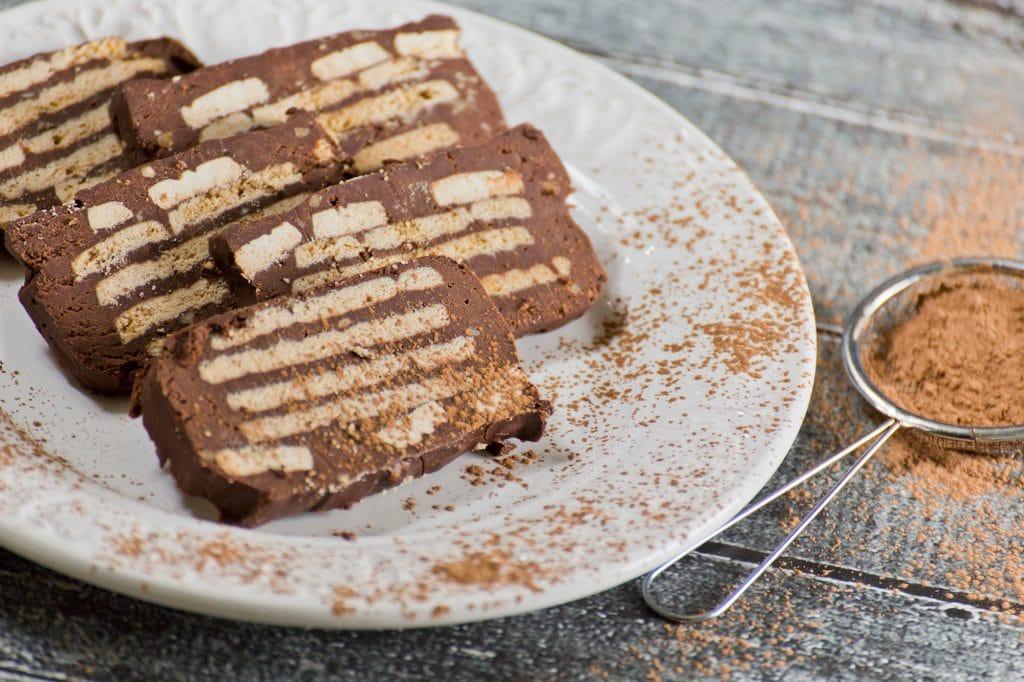 Danish Chocolate Biscuit Cake or Kiksekage