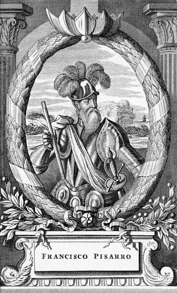 Portrait of Francisco Pizarro González spanish conquistador of the Inca Empire