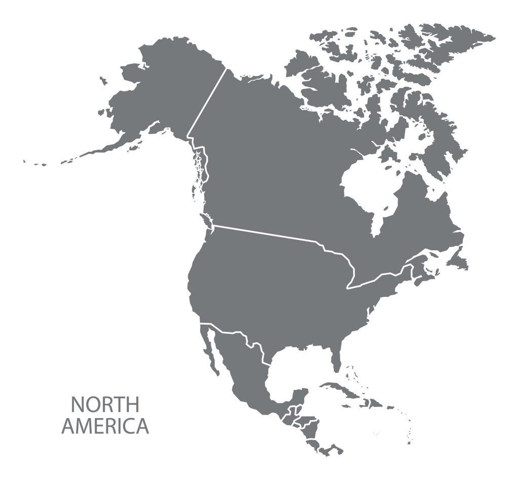 Illustration of North America