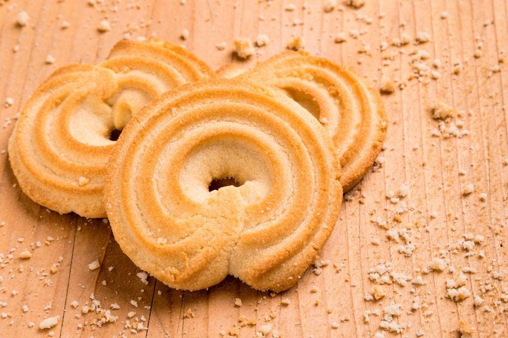Vaniljekranse or Danish Butter Cookies
